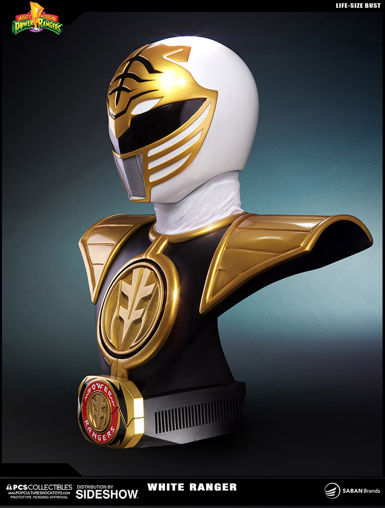 64a52ebad Mighty Morphin Power Rangers White Ranger Life-Size Bust by