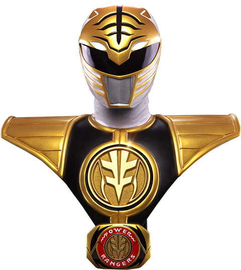 Pop Culture Shock White Ranger Life-Size Bust