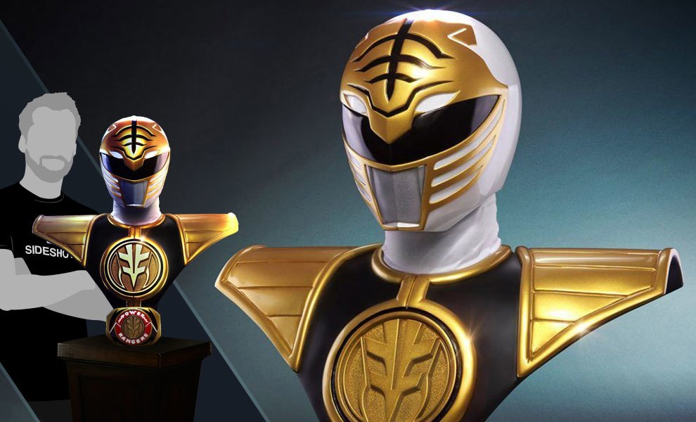 Gallery Feature Image of White Ranger Life-Size Bust - Click to open image gallery