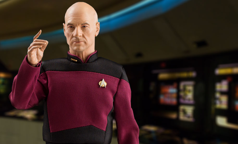 Gallery Feature Image of Captain Jean-Luc Picard Sixth Scale Figure - Click to open image gallery