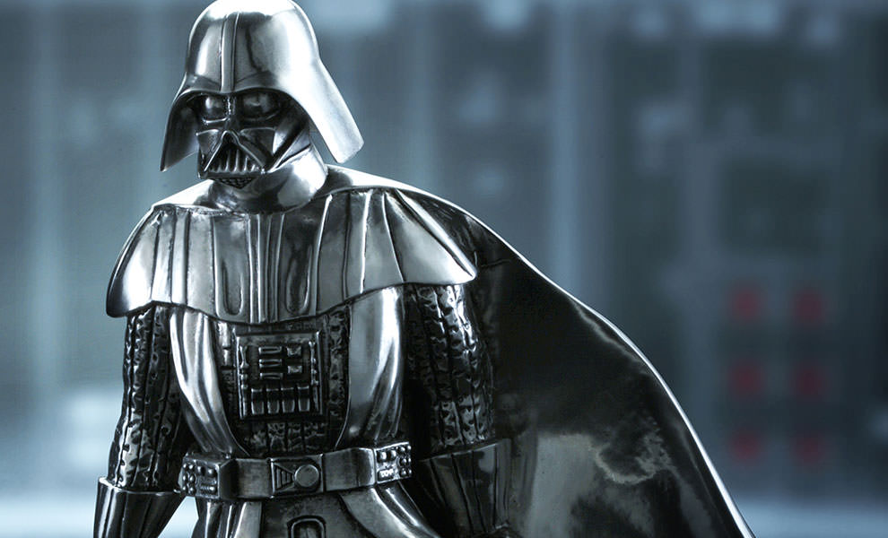 Gallery Feature Image of Darth Vader Figurine Pewter Collectible - Click to open image gallery