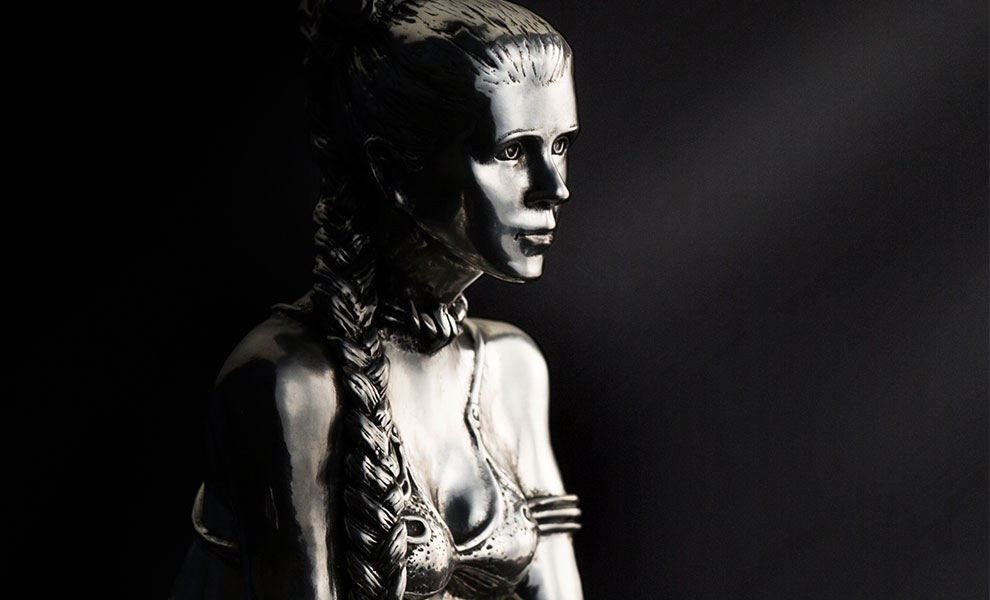 Gallery Feature Image of Princess Leia Figurine Pewter Collectible - Click to open image gallery