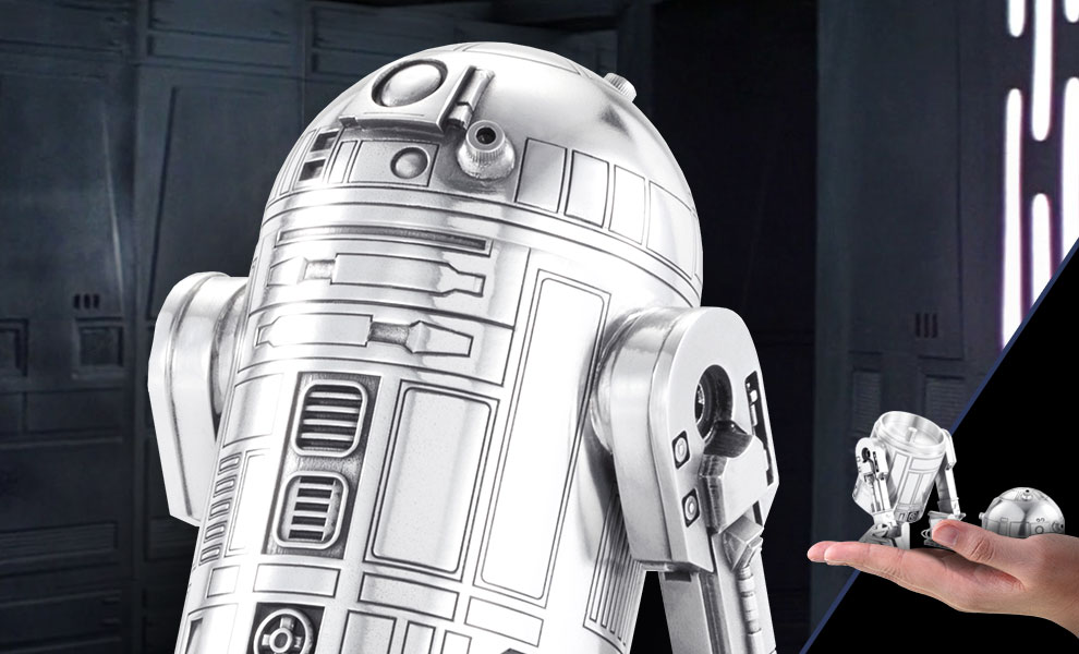 Gallery Feature Image of R2-D2 Canister Pewter Collectible - Click to open image gallery