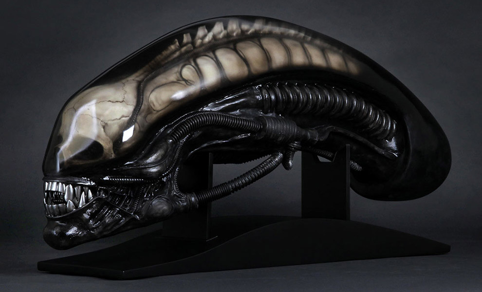 Gallery Feature Image of Gigers Alien Life-Size Head Prop Replica - Click to open image gallery