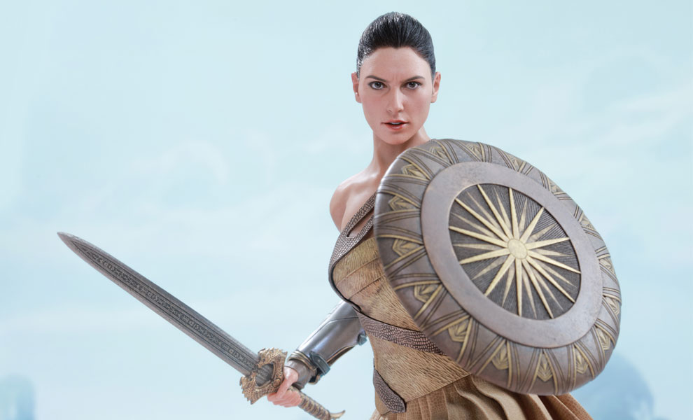 Gallery Feature Image of Wonder Woman Training Armor Version Sixth Scale Figure - Click to open image gallery