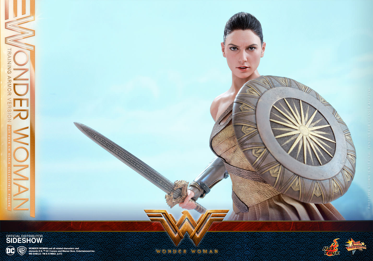 Hot Toys MMS424 WONDER WOMAN Training Armor Version Figure 1//6th Scale STAND