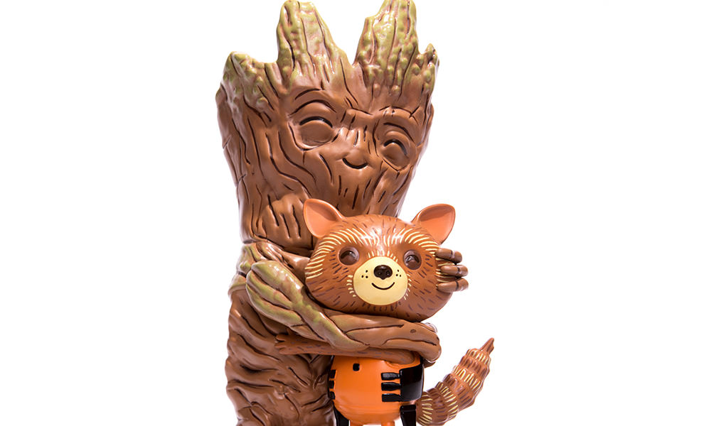 Gallery Feature Image of Rocket and Groot Treehugger Vinyl Collectible - Click to open image gallery
