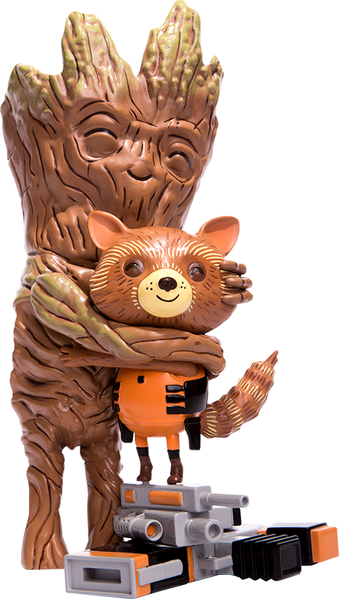 Mondo Rocket and Groot Treehugger Vinyl Collectible
