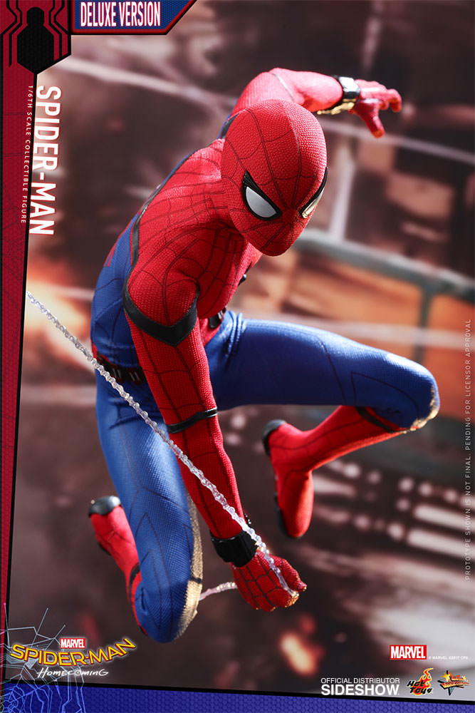 Marvel Spider-Man Deluxe Version Sixth Scale Figure by Hot T