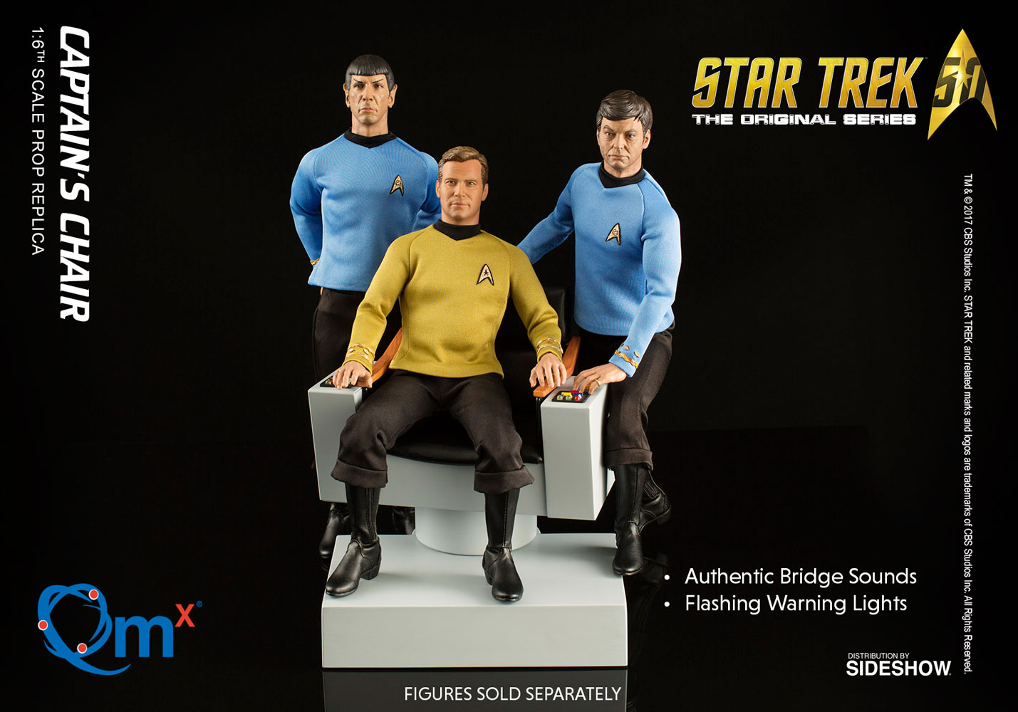 Star Trek Captains Chair Sixth Scale Figure Accessory by Qua