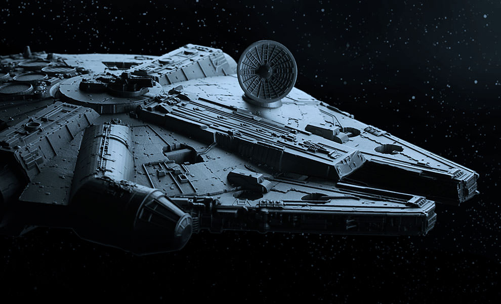 Gallery Feature Image of Millennium Falcon Pewter Collectible - Click to open image gallery