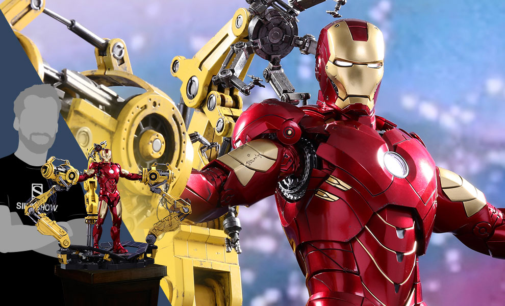 Gallery Feature Image of Iron Man Mark IV with Suit-Up Gantry Collectible Set - Click to open image gallery
