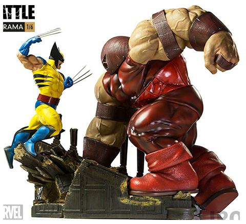 Iron Studios Wolverine vs Juggernaut Diorama