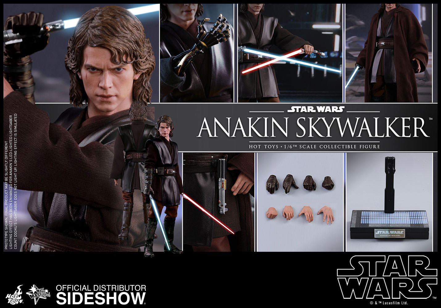 Star Wars Anakin Skywalker Sixth Scale Figure By Hot Toys Sideshow