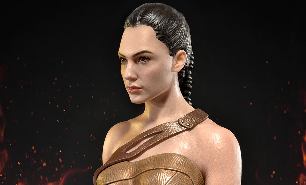 Gallery Feature Image of Wonder Woman Training Costume Statue - Click to open image gallery