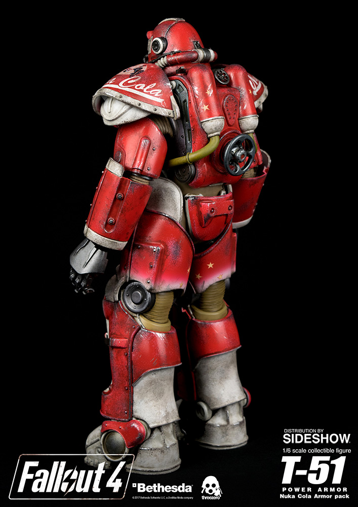 Fallout 4 T 51 Power Armor Nuka Cola Armor Pack Sixth Scal Sideshow