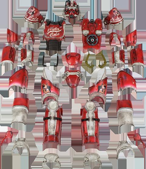 Threezero T-51 Power Armor - Nuka Cola Armor Pack Sixth Scale Figure