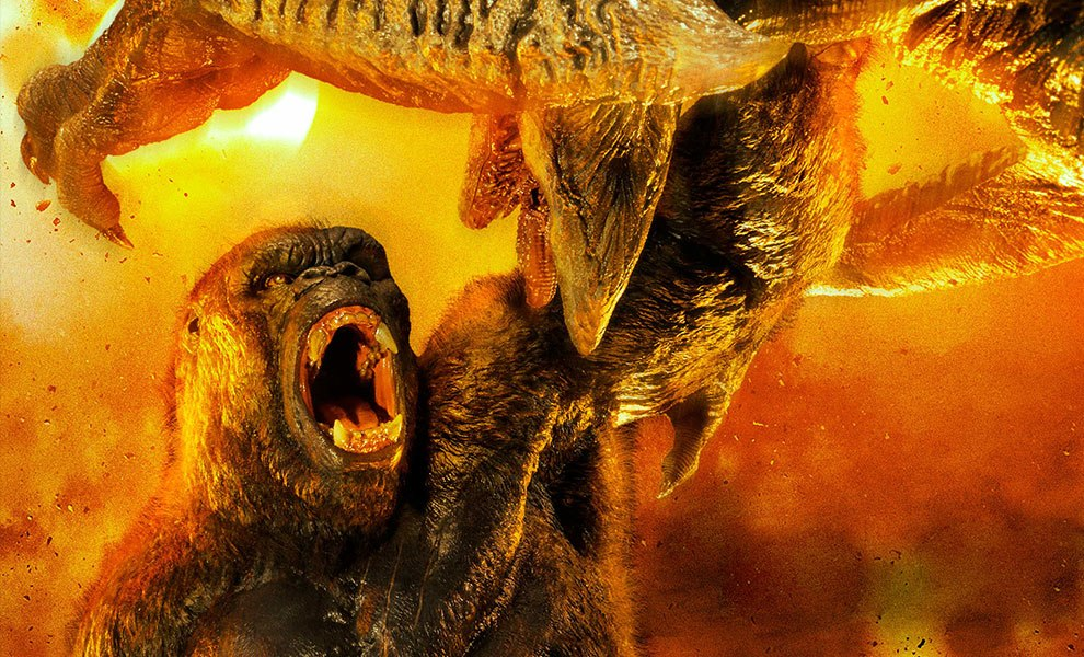 Gallery Feature Image of Kong vs Skull Crawler Deluxe Version Statue - Click to open image gallery