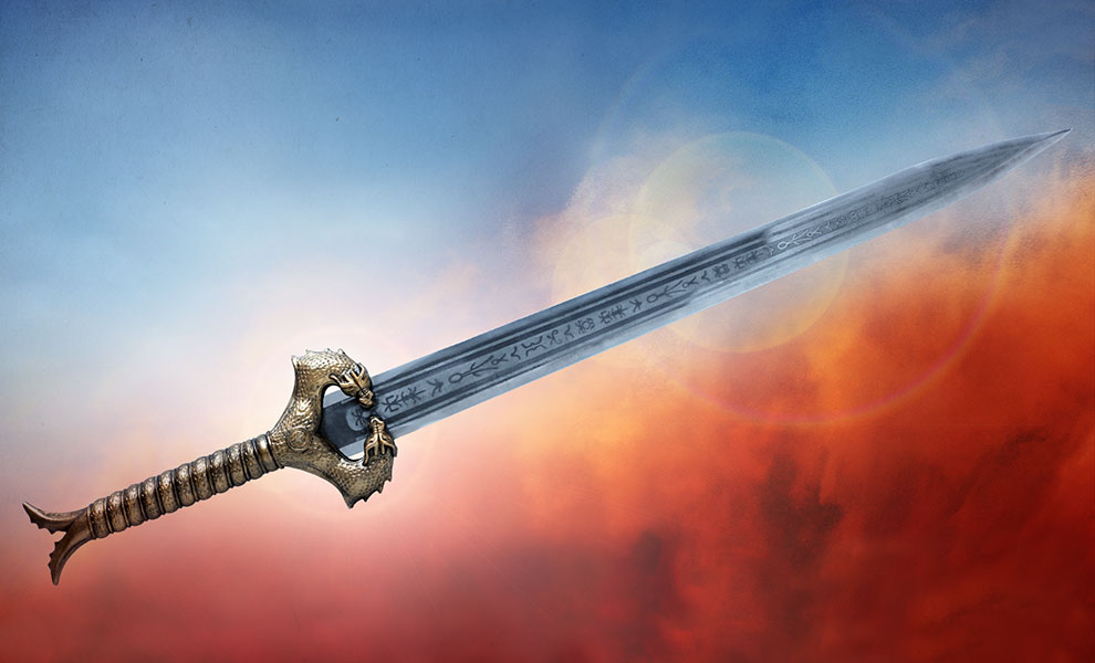 Gallery Feature Image of Wonder Woman God Killer Sword Prop Replica - Click to open image gallery
