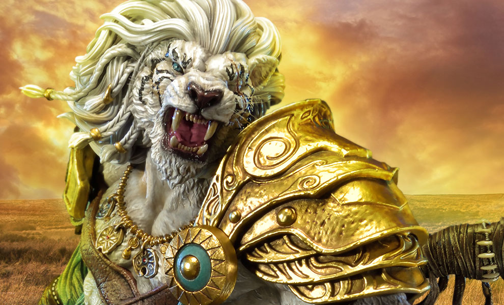 Gallery Feature Image of Ajani Goldmane Statue - Click to open image gallery