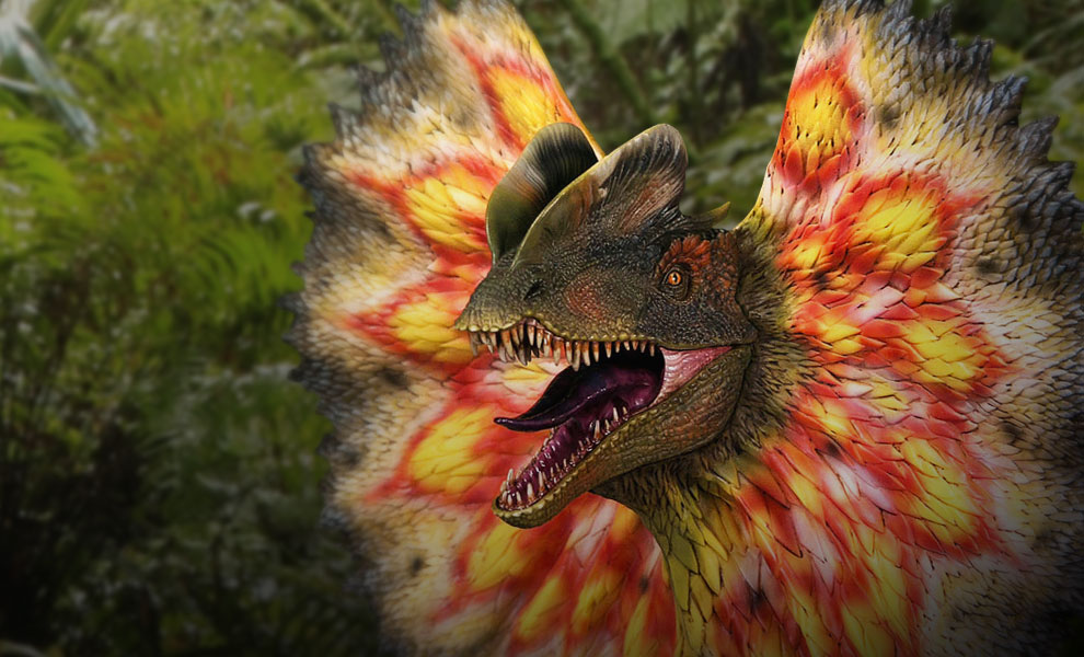 Gallery Feature Image of Dilophosaurus Bust - Click to open image gallery