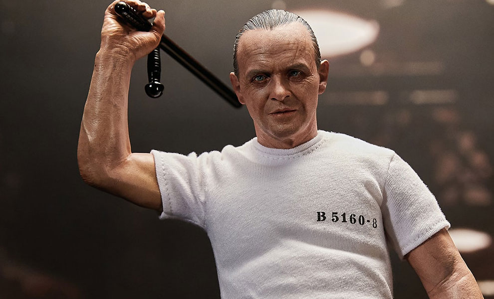 Gallery Feature Image of Hannibal Lecter White Prison Uniform Version Sixth Scale Figure - Click to open image gallery
