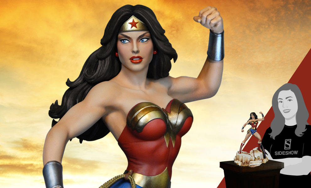 Gallery Feature Image of Super Powers Wonder Woman Maquette - Click to open image gallery