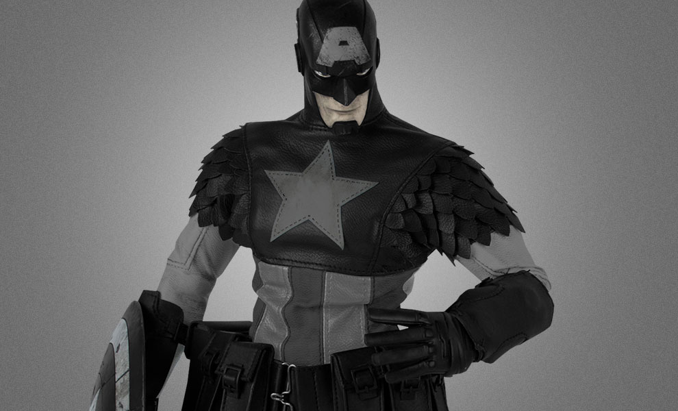 Gallery Feature Image of Night Mission Captain America Sixth Scale Figure - Click to open image gallery