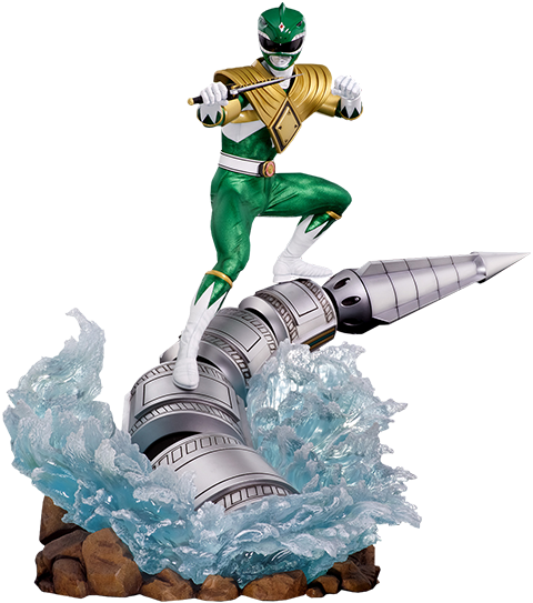 Pop Culture Shock Green Ranger Dragonzord Statue