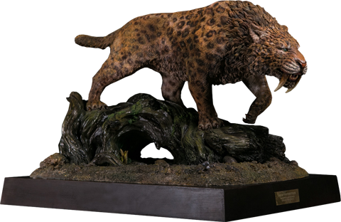 Damtoys Smilodon Fatalis Wet Rainforest Version Statue