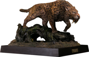 Smilodon Fatalis Wet Rainforest Version Statue