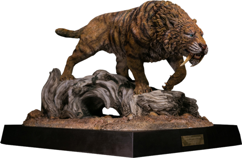 Damtoys Smilodon Fatalis Dry Gobi Desert Version Statue