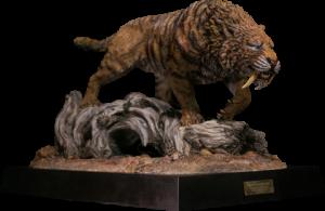 Smilodon Fatalis Dry Gobi Desert Version Statue