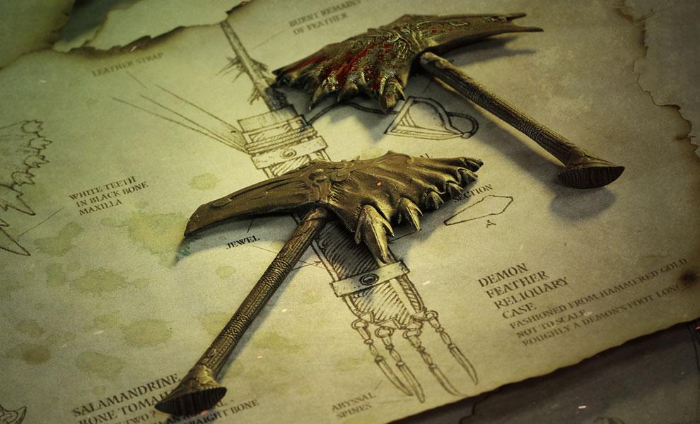 Gallery Feature Image of Baron Faraiis Salamandrine Bone Tomahawk Prop Replica - Click to open image gallery