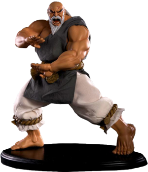 Gouken Strong Fist Statue