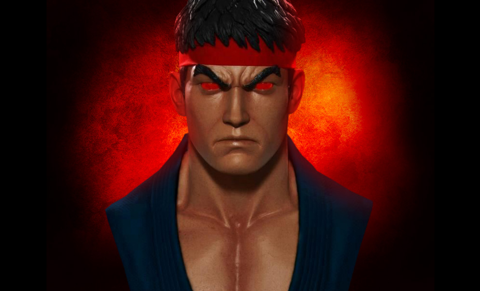 Gallery Feature Image of Evil Ryu Life-Size Bust - Click to open image gallery