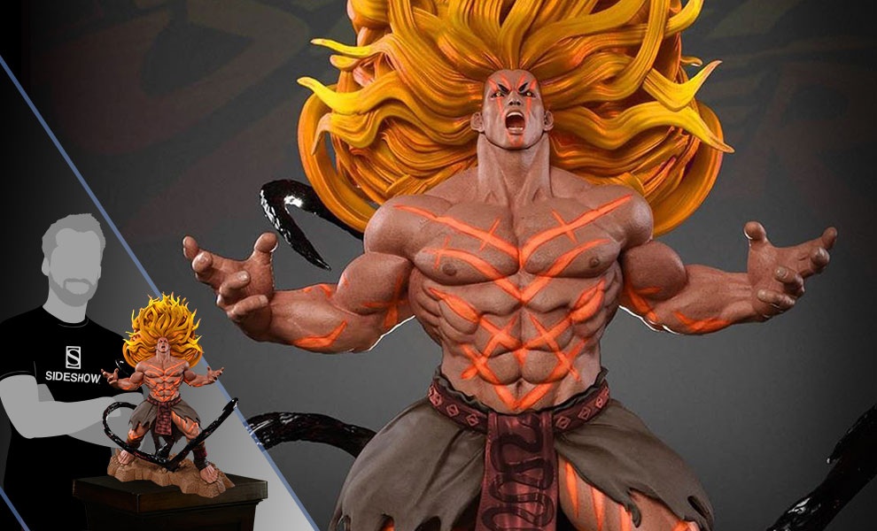 Gallery Feature Image of Necalli V-Trigger Player 2 Yellow Statue - Click to open image gallery