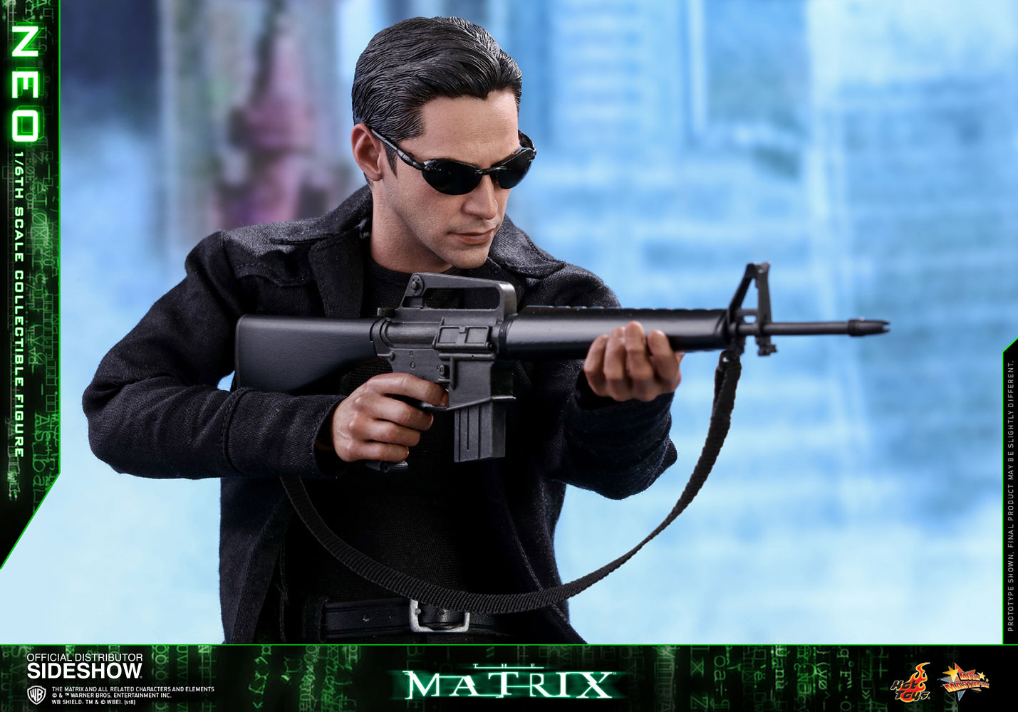 "Hottoys HT MMS466 1//6th The Matrix NEO Arms gun Model B For 12/"" Figure"