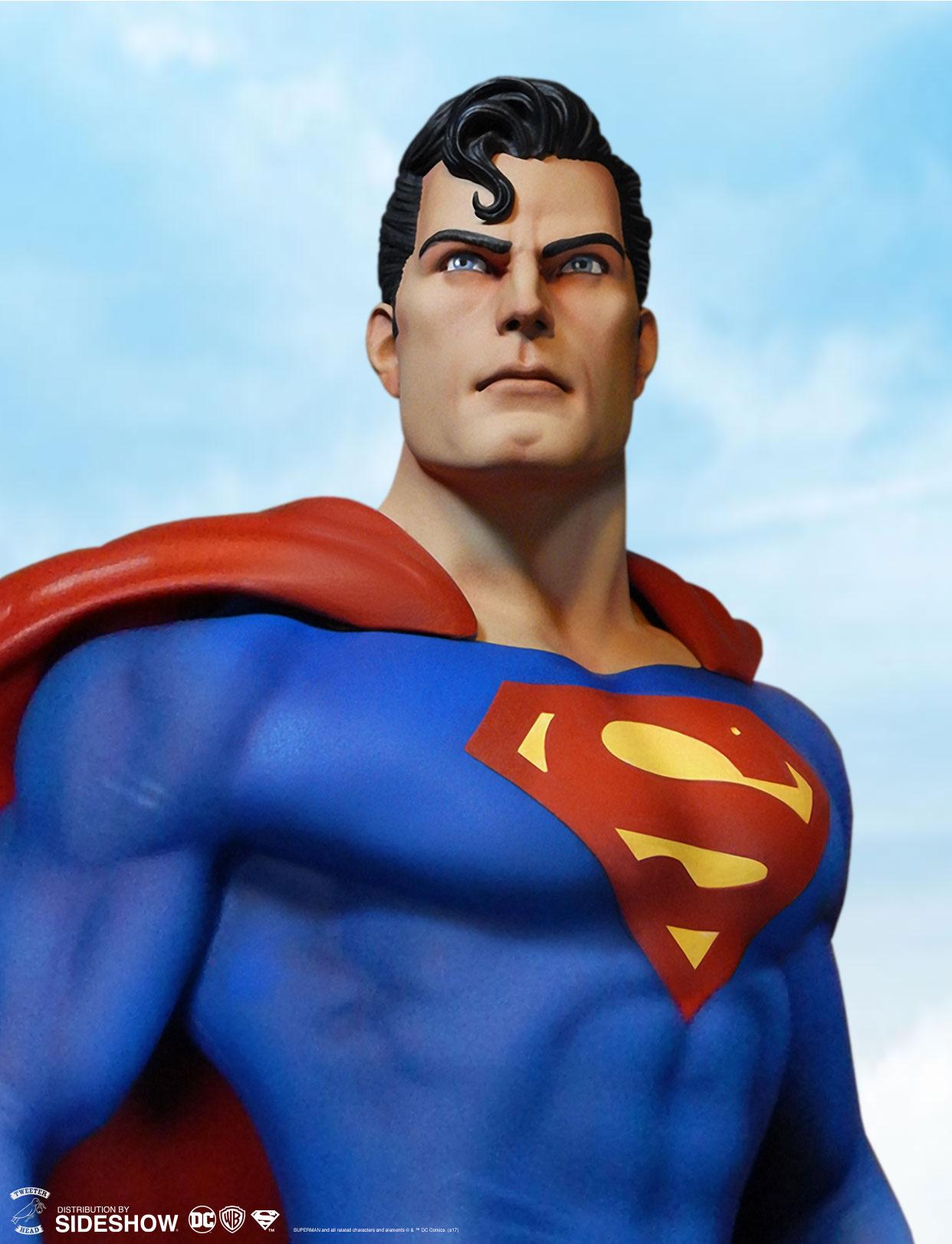 29e3a80234332 DC Comics Super Powers Superman Maquette by Tweeterhead | Sideshow ...
