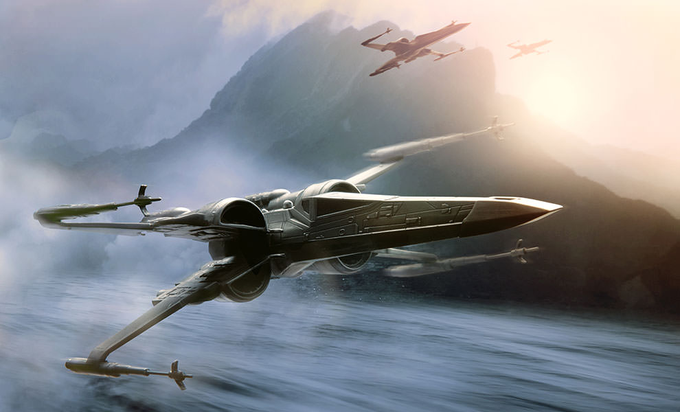 Gallery Feature Image of X-Wing Starfighter Pewter Collectible - Click to open image gallery