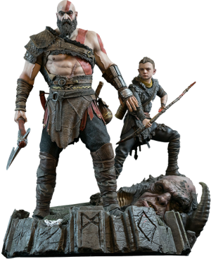 God of War PS4 Statue