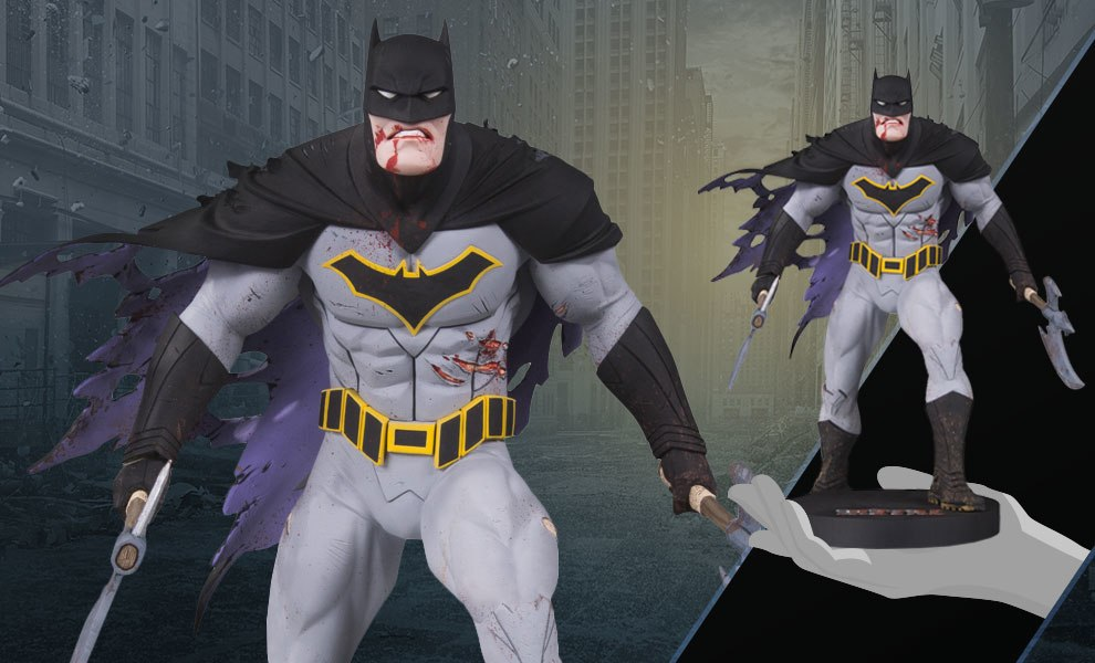 Gallery Feature Image of Metal Batman Statue - Click to open image gallery