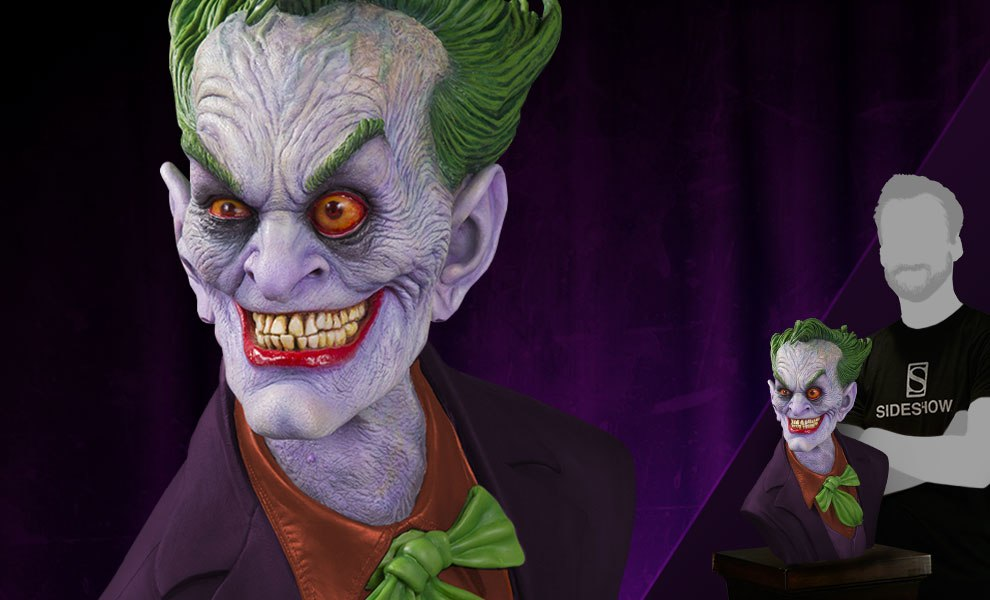 Gallery Feature Image of The Joker Standard Edition Bust - Click to open image gallery