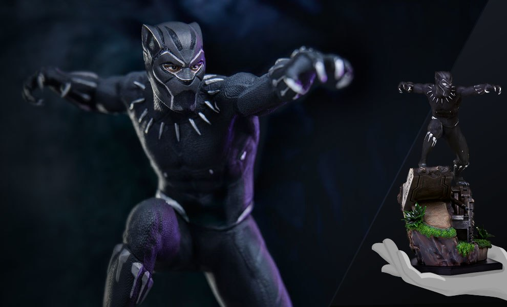 Gallery Feature Image of Black Panther 1:10 Scale Statue - Click to open image gallery