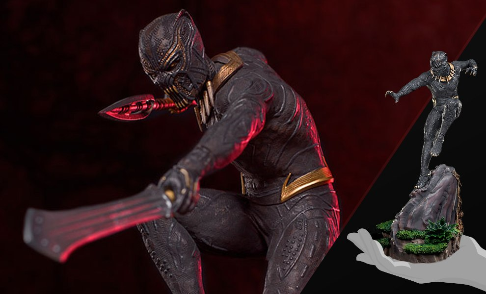 Gallery Feature Image of Killmonger Statue - Click to open image gallery