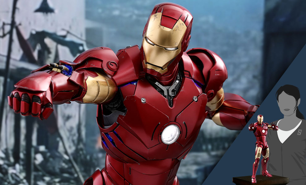 Gallery Feature Image of Iron Man Mark III Quarter Scale Figure - Click to open image gallery