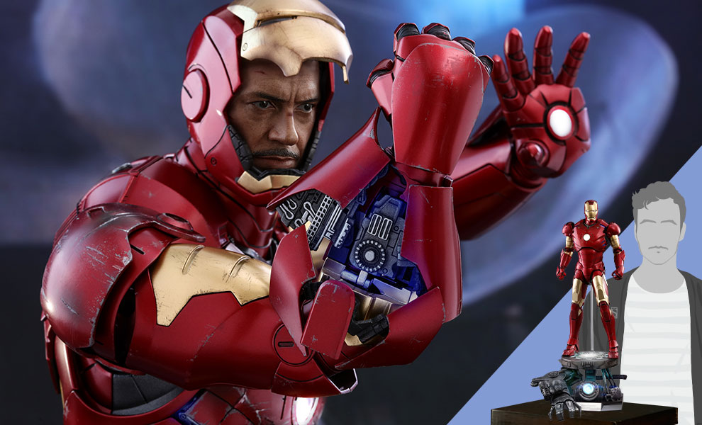 Gallery Feature Image of Iron Man Mark III Deluxe Version Quarter Scale Figure - Click to open image gallery