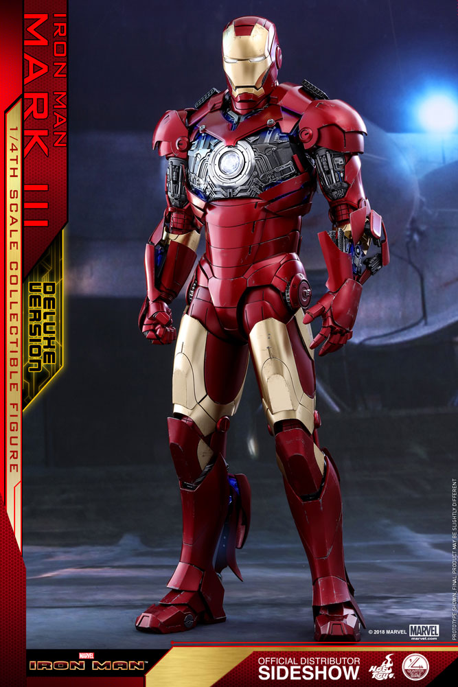 Marvel Iron Man Mark III Deluxe Version Quarter Scale Figure