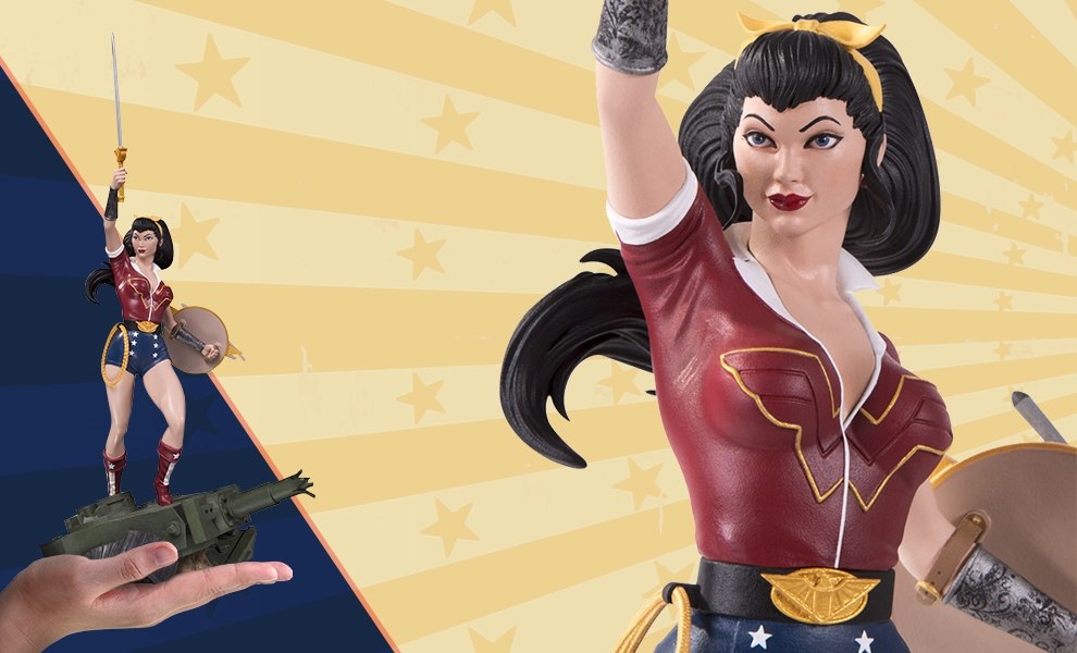 Gallery Feature Image of Wonder Woman Deluxe Statue - Click to open image gallery