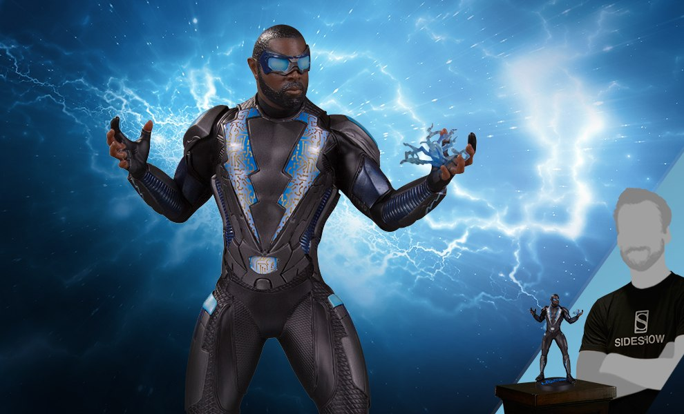 Gallery Feature Image of Black Lightning Statue - Click to open image gallery